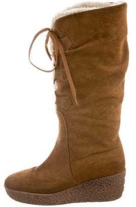 KORS Suede Knee-High Boots