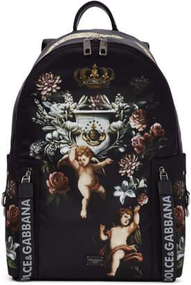 Dolce & Gabbana Black Angels Vulcano Backpack