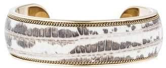 Salvatore Ferragamo Leather Cuff Bracelet