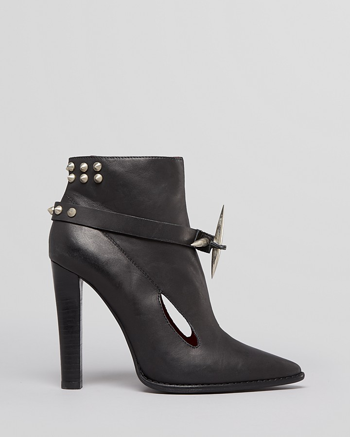 Jeffrey Campbell Pointed Toe Booties - Propel Studded High Heel