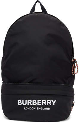 Burberry Black Convertible Logo Backpack