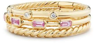 David Yurman Novella 3-Row Ring with Diamonds