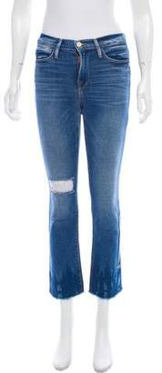 Frame Mid-Rise Le High Straight Jeans