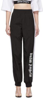 Palm Angels Black Over Logo Track Pants