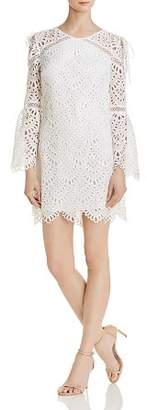 Laundry by Shelli Segal Cold-Shoulder Lace Dress