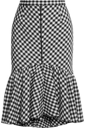 Tome Ruffled Gingham Jacquard Skirt