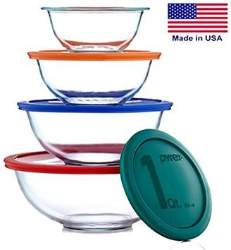 Pyrex Smart Essentials Mixing Bowl Set Including Locking Lids (Clear)