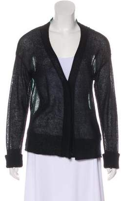 A.L.C. Semi-Sheer Mohair-Blend Cardigan