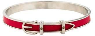 Hermes Leather Buckle Bangle