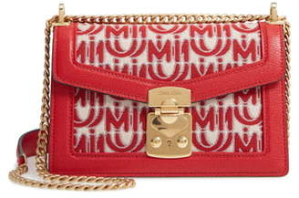 Miu Miu Jacquard Logo Shoulder Bag