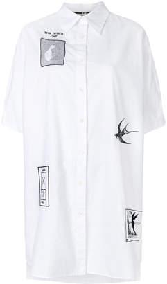 McQ embroidered tarot card shirt