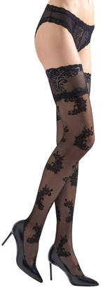 Natori Feathers Stay-Up Thigh Highs