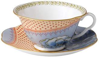 Wedgwood Butterfly Bloom Blue Peony Cup & Saucer