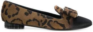 Salvatore Ferragamo Vara leopard loafers