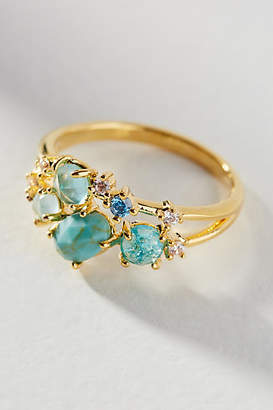 Anthropologie Birthstone Cluster Ring