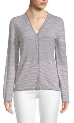 Piazza Sempione Block Striped Cashmere& Wool Cardigan