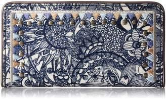 Sakroots Artist Circle Slim Wallet Wallet, Black And White One World