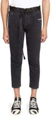 Off-White Five-Pocket Cropped Jeans