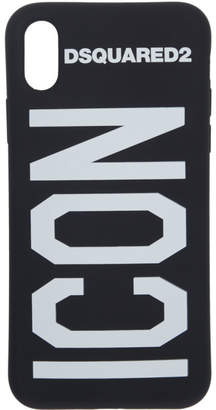 DSQUARED2 Black Icon iPhone X Case