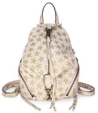 Rebecca Minkoff Convertible Mini Julian Backpack Suede Stars