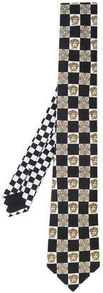 Versace geometric print tie
