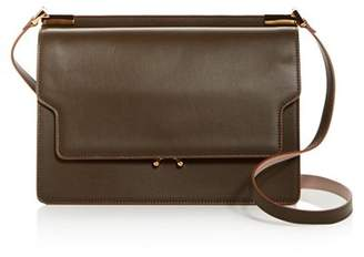 Marni Trunk Slim Leather Shoulder Bag