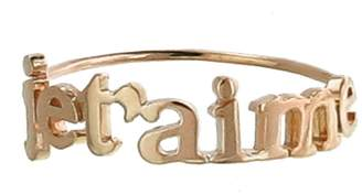 Jennifer Meyer Je T'aime Stacking Ring - Rose Gold