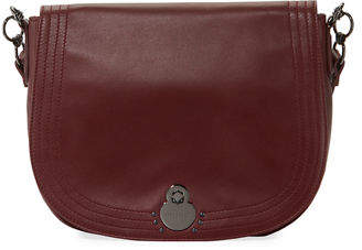 Longchamp Cavalcade Large Leather Shoulder Saddle Bag