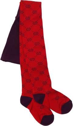 Gucci Gg Supreme Cotton Blend Knit Tights