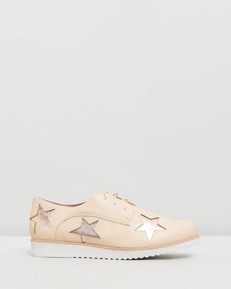 Walnut Melbourne Maze Star Lace-Up Shoes
