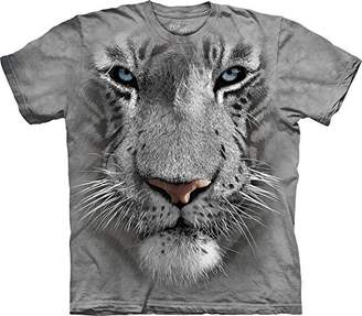 The Mountain Men's White Tiger Face T-Shirt