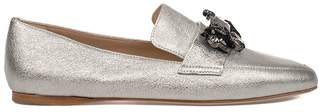 Fabio Rusconi Silver Chic Laminated Leather Loafer