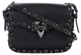 Valentino Small Rockstud Rolling Noir Bag