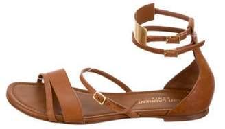 Saint Laurent Leather Ankle-Strap Sandals