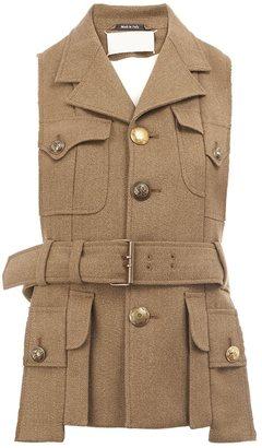 Maison Margiela military style waistcoat jacket $1,595 thestylecure.com