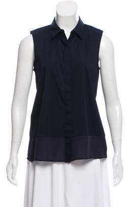 Theory Sleeveless Button-Up Top