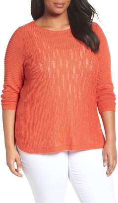 Nic+Zoe Sheer Dusk Sweater