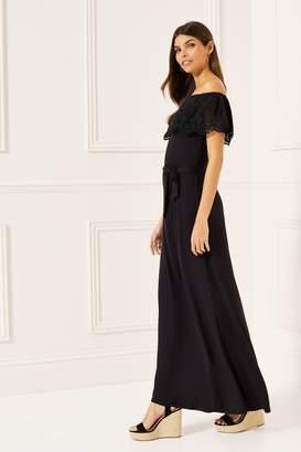 9151dcfd76f5 Next Lipsy Broderie Bardot Maxi Dress - 6