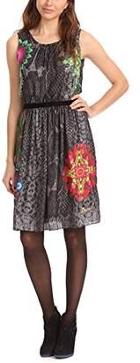 Desigual Women's Pretty Short Sleeve Dress,(Manufacturer Size:38)