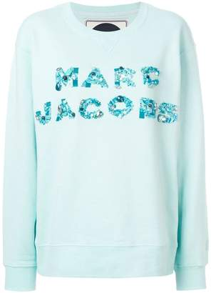 Marc Jacobs bead embroidered logo sweatshirt