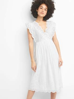 Gap Midi Eyelet Dress
