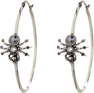 Alexander McQueen Spider Crystal Hoop Earrings