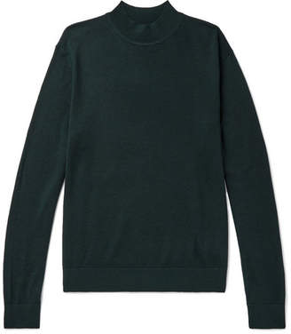 Club Monaco Slim-Fit Merino Wool, Silk And Cashmere-Blend Mock-Neck Sweater