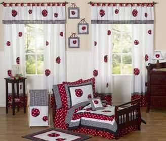 JoJo Designs Sweet Red and White Polka Dot Ladybug Girl Toddler Bedding 5 Piece Set