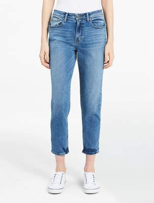 Calvin Klein light wash relaxed ankle jeans