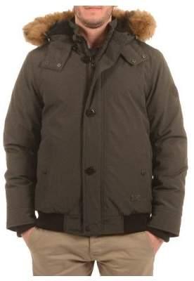 Buffalo David Bitton Faux Fur Faux Shearling-Trimmed Bomber Jacket