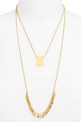 Madewell Dancing Arrow Layered Necklace