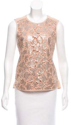 Rebecca Taylor Sleeveless Embellished Top