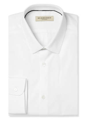 Burberry White Slim-Fit Cotton Shirt
