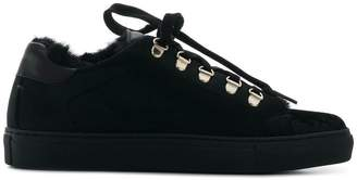Pollini velvet lace-up sneakers